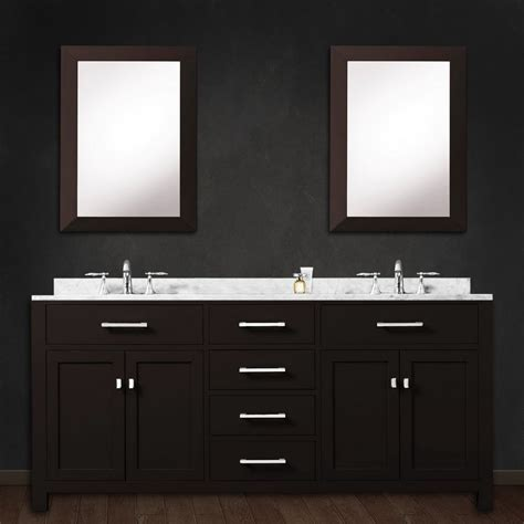 Water Creation Madison72EC 72? Espresso Double Bath Vanity