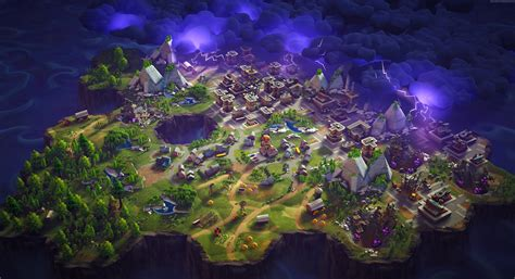 House Of Stone And Light by Wallpaper Fortnite Game Shooter City Magic Purple