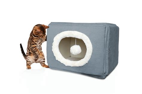 Furhaven Pet Bed by Furhaven Cozy Cube Cat Or Small Bed Pet Bed Ebay