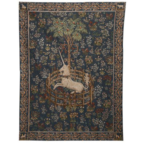 Rug Hangers For Wall unicorn in captivity tapestry wall hanging the met store