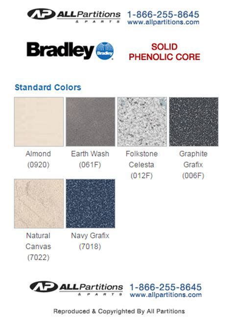 phenolic bathroom partition color charts accurate