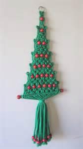 christmas tree macrame wall hanging