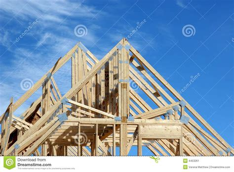 house rafters  stock image image  build ladder roof