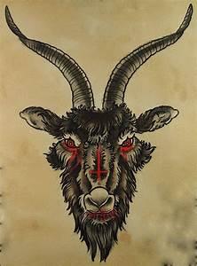 inverted cross/goats head   Tattoo Art   Pinterest   Goats ...