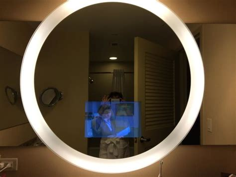 tv in bathroom mirror picture of hyatt regency orlando