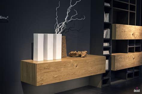 floating wooden cabinets  shelves  offer modular ease