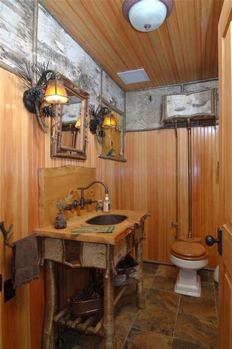 adirondack camp traditional bathroom boston