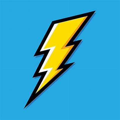 Lightning Bolt Vector Icon Electric Clip Illustrations