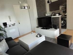 cuisine indogate papier peint salon noir et blanc With deco salon moderne noir et blanc