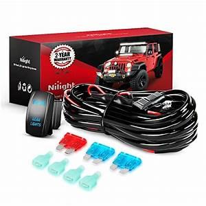 Nilight Led Light Bar Wiring Harness Kit Rear Lights 12v