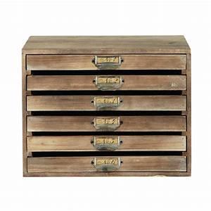 Maison Du Monde Boite A Bijoux : range courrier en bois h 39 cm antoine maisons du monde ~ Melissatoandfro.com Idées de Décoration