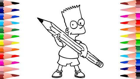 coloring  simpsons paint simpsons coloring pages