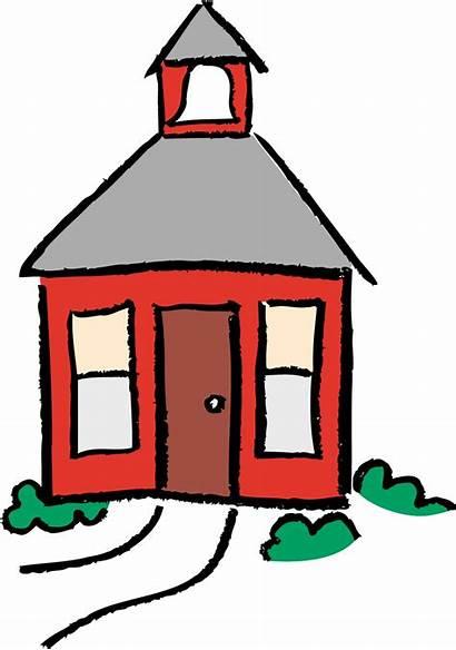Clipart Schoolhouse Cartoon Clip Building Cliparts Library