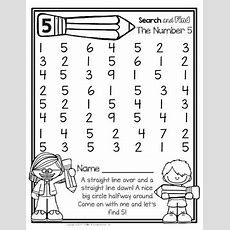 Freebie  Number Recognition Activity For The Number 5 Lettersnumberscolorsshapes