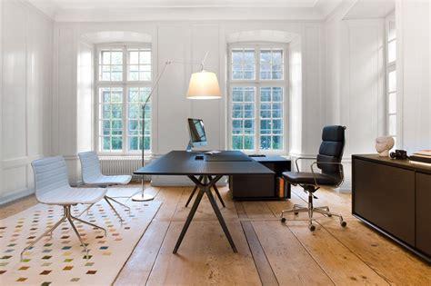 bureau de direction contemporain en bois en cuir