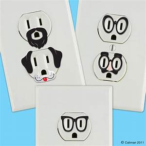 creative outlet stickers give electric wall outlets With wall sticker outlet