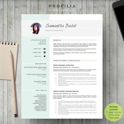 Buy Cv Template by Modern Resume Template Professional Resume Template