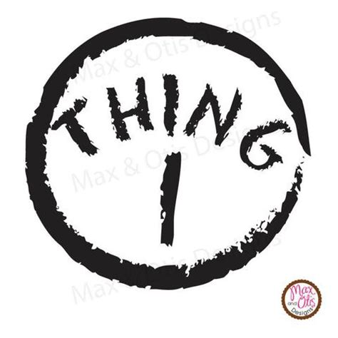 Thing 1 Editable Template by Printable Iron On Transfer Thing 1 Thing 2 Editable