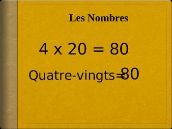 french numbers   powerpoint  world language