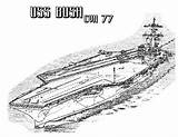 Coloring Carrier Aircraft Pages Ship Cvn Bush Plane Navy Battleship Ww2 Template Sky Attack Take Loading Sheets Templates Coloringsky sketch template