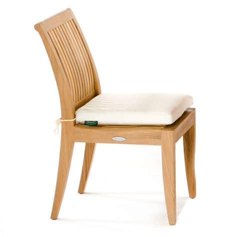 sunbrella side chair cushion westminster teak outdoor