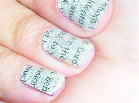 book nails  magazine newspaper nail nail painting