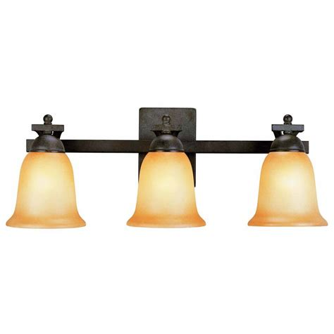 glass bathroom light shades commercial electric 3 light rustic iron vanity light with