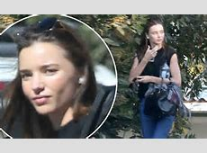 Miranda Kerr goes makeupfree after workout at a private
