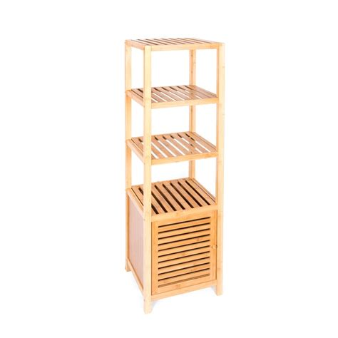 evoque bamboo bathroom storage cabinet bunnings warehouse