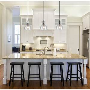 Pendant lighting ideas for kitchen : Awesome pendant lighting over kitchen island also mini