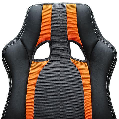 chaise bureau baquet chaise de bureau sport fauteuil siege baquet grise