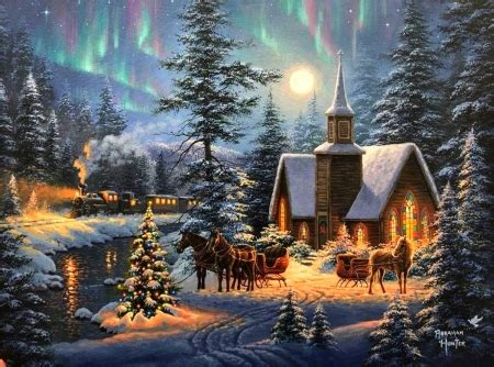 christmas  silent night winter nature background