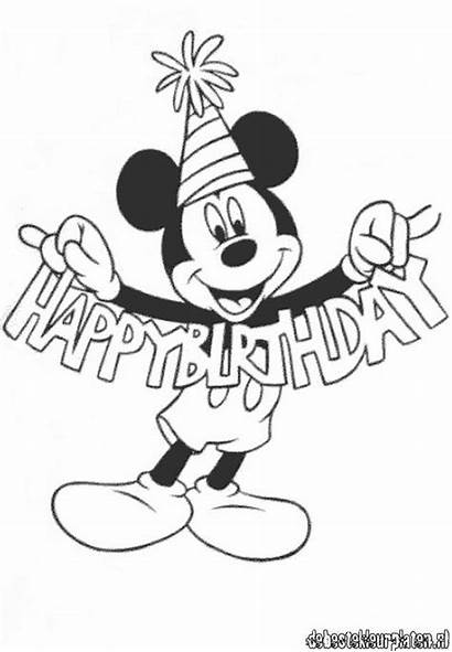 Mickey Coloring Mouse Birthday Pages Happy Printable
