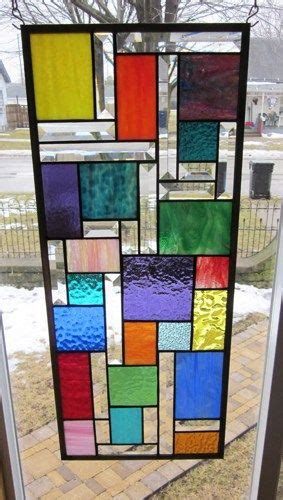how to stained glass window zephyr stained glass window panel abstract geometric ebsq