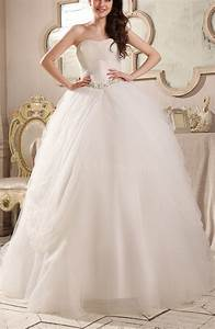 romantic hall strapless backless chapel train rhinestone With strapless and backless wedding dress