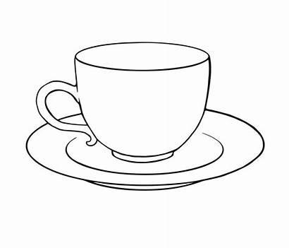 Simple Teacup Cup Drawing Tea Drawings Outline