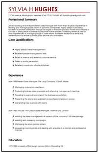 uk resume format cv sle myperfectcv