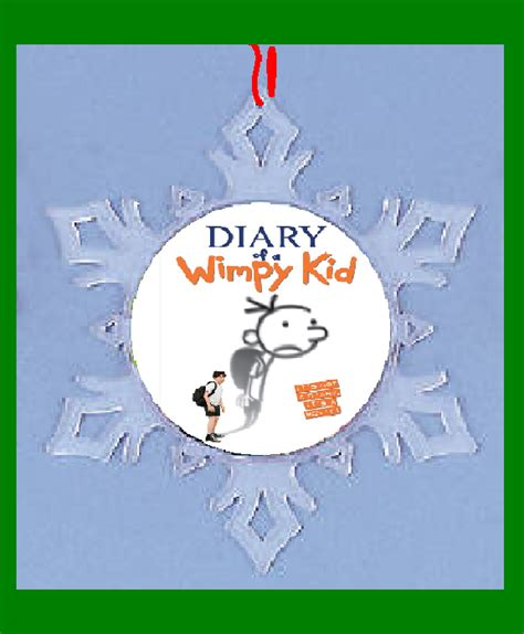 diary of a wimpy kid snow flake ornament christmas