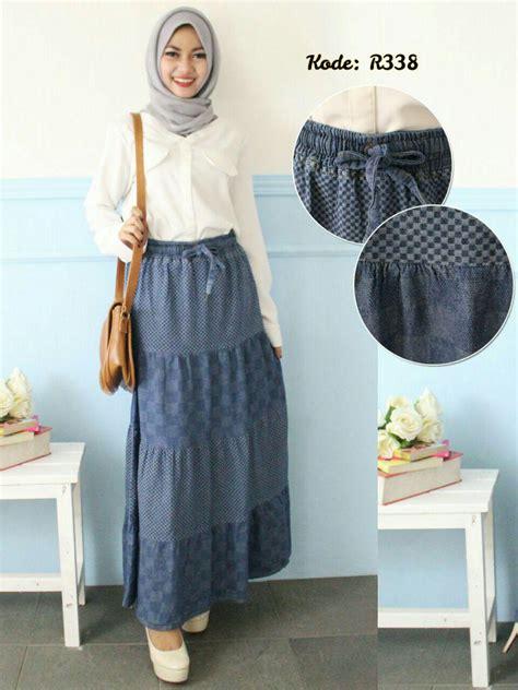 rok canda kombinasi  baju hijab style ootd