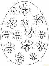 Easter Egg Coloring Pages Flowers Simple Eggs Printable Flower Print Pattern Drawing Puzzle Prints sketch template