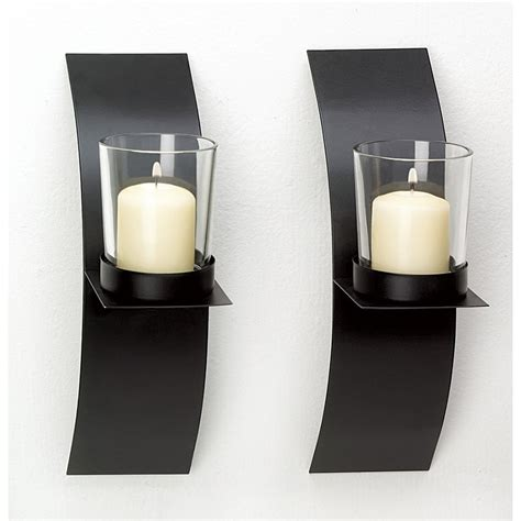 Candle Sconces - modern candle holder wall sconce display black wire