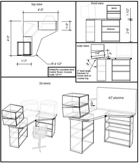 drawing furniture plans  woodworking