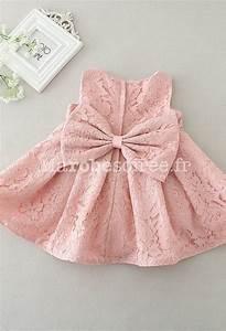 Noeud Papillon Rose Poudré : petite robe b b fille rose poudr e dentelle ~ Melissatoandfro.com Idées de Décoration