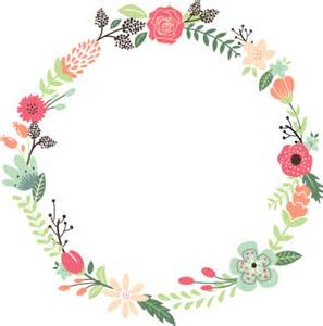 Vintage Flower Wreath Clip Art