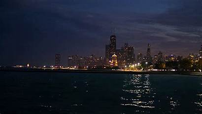 Chicago Background Romantic Wallpapers Scenery Night Cinemagraph