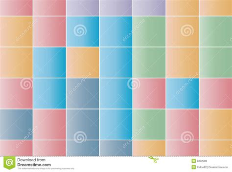 Background Of Squares In Pastel Colors Stock Vector