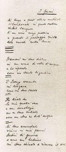 il poeta di m illumino d immenso ecletticae il poeta senza nobel ungaretti autografo de