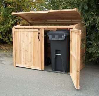rubbermaid garbage shed the oscar waste management cedar refuse storage shed