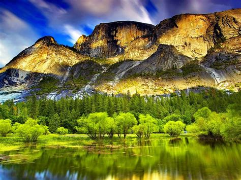 mountain spring lake pine forest  wallpaperscom
