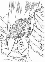 Merida Coloring Cliff Climb Disney Vertical Brave Princess Colorluna Printable Cartoon Sheets Luna sketch template